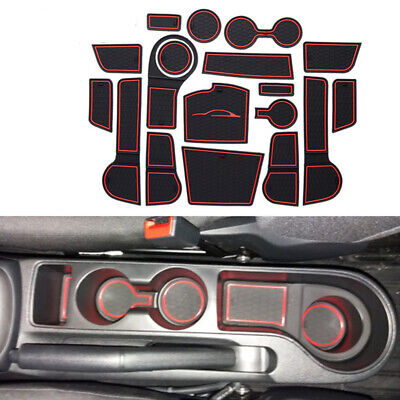 Interior Door Mat Cup Pads Holder Gate Slot Pad for Kia Rio 4 X-Line 2017-2018