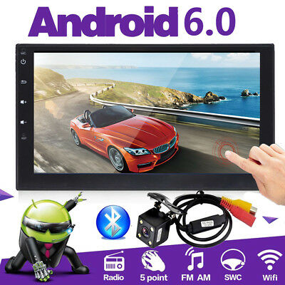 """Android Bluetooth Car Stereo Radio 2 DIN 7"""" MP5 Player GPS Wifi 4G+Rear Camera"""