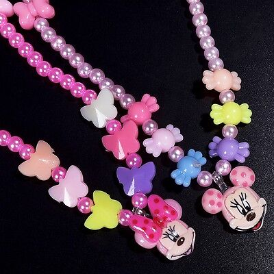 Children Gift Colorful Jewelry Girls Princess Beads Necklace Kids Baby Toddlers (Toddler Jewelry)