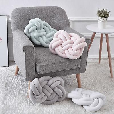 Soft Handmade Pillow Tie Knot Ball Nordic Concise Cushion Baby Kids Room -
