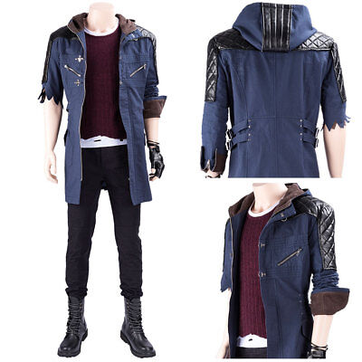 Devil May Cry V DMC5 Nero Cosplay Costume Outfit Jacket Hoodie Coat Only - Dmc Costumes