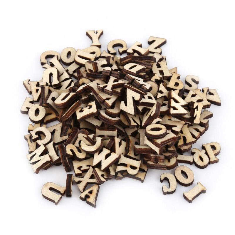 100 x Letras de madera del alfabeto adorno scrapbooking cardmaking Craft