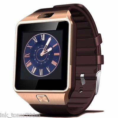 Golden Bluetooth Smart Watch Phone Works w/ Bluetooth supported all iPhone 6/5/+
