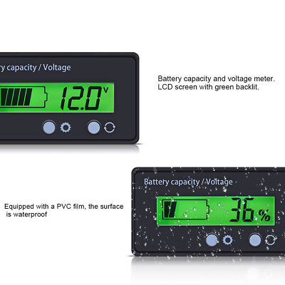 Lcd Display Battery Capacity Indicator Digital Voltmeter Voltage Tester Monitor