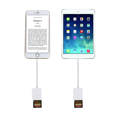 SD Card Camera Reader Adapter for iPhone 5/5s/6/6s/6Plus/7/7Plus/iPad Mini/Air