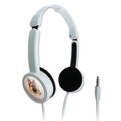 German Shepherd Dog Breed Novelty Travel Portable On-Ear Foldable Headphones