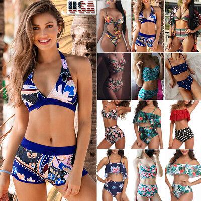 - Bikini Set Women Swimwear Push-up Bra Boy Shorts Swimsuit Beachwear Bathing Suit