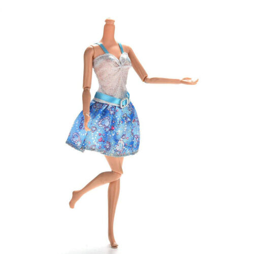 10 Pcs Dresses for Barbie Doll Fashion Party Girl Dresses Clothes Gown Toy Gift. - 5