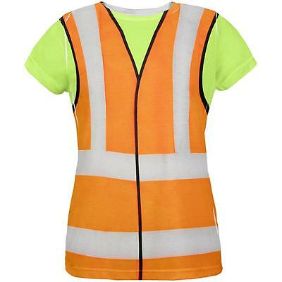 Halloween Road Worker Construction Vest Costume All Over Womens T Shirt - Road Worker Halloween Costumes