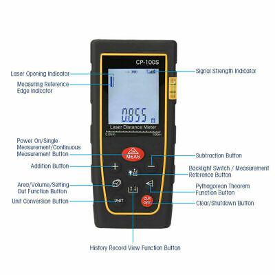 100m Digital Handheld Laser Point Distance Meter Range Find Measure Diastimeter
