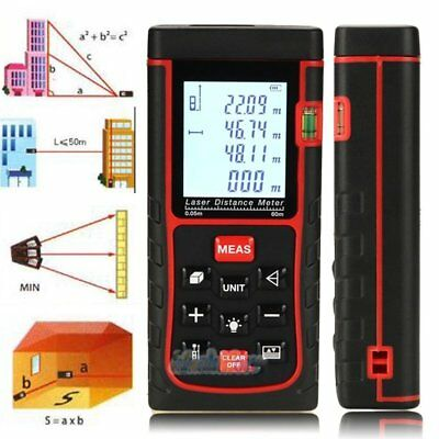 50m165ft Digital Lcd Laser Distance Meter Range Finder Measure Diastimeter My