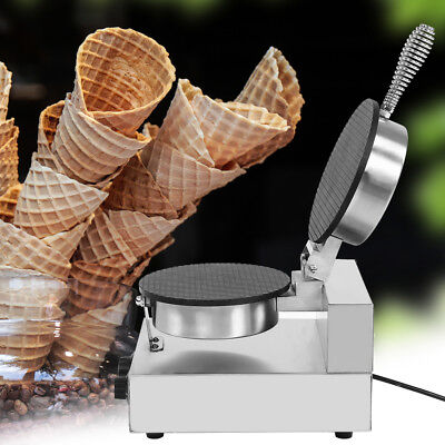 110220v Commercial Electric Stainless Ice Cream Egg Rolls Cone Maker Machine