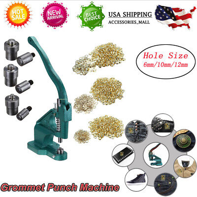 Grommet Eyelet Hole Punch Machine Hand Press Fit Banner Bag Etc 900 Grommets