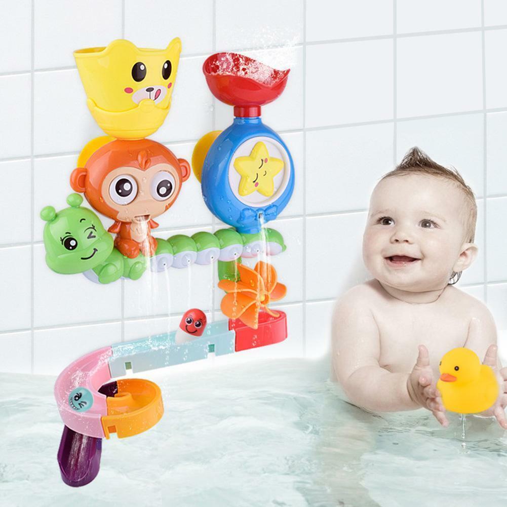 Children Kids Bath Toy Wall Sunction Water Play Sprinkler Ga