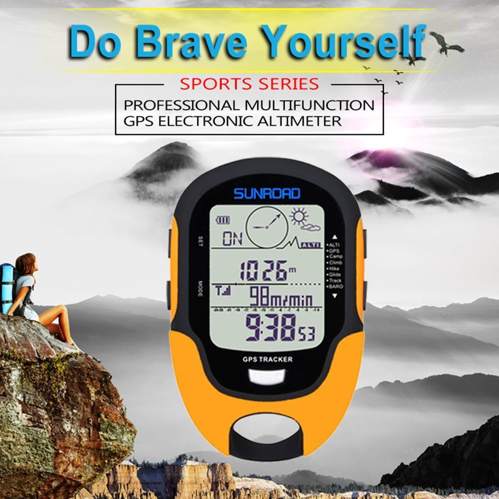 SUNROAD Waterproof Rechargeable LCD GPS Altimeter Compass Te