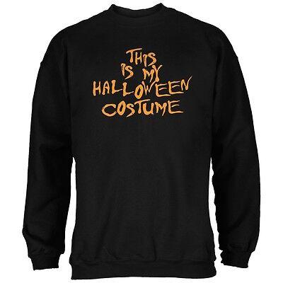 My Funny Cheap Halloween Costume Black Adult Sweatshirt