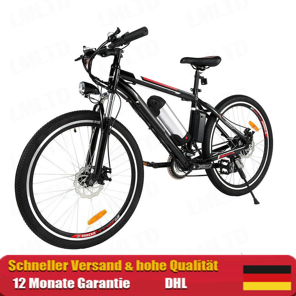 "26"" Elektrofahrrad E-Bike Mountainbike Shimano Pedelec 250W 21Gang 35km/h Ebike"