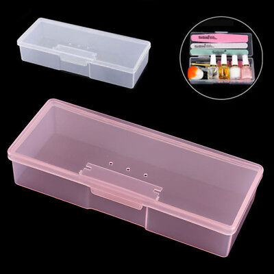 Nail Art Manicure Tool Plastic Storage Box Case Brushes Container Holder Solid