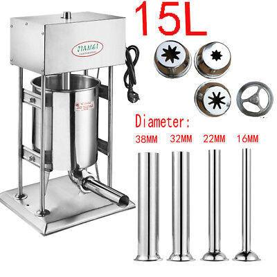 15l Commercial Electric Sausage Stuffer Stainless Steel Meat Filler Machine