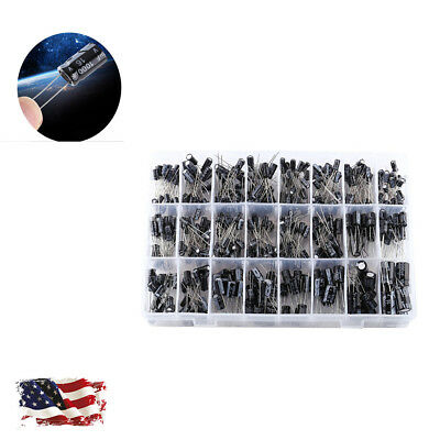 500pcs 24value Aluminum Electrolytic Capacitor Kit Assortment 0.11000uf 1050v
