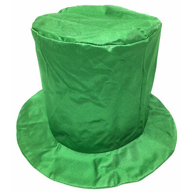 Top Hat Kids (Child Shiny Green Top Hat ~ HALLOWEEN, COSTUME, NEW YEAR'S, ST. PATRICK'S,)