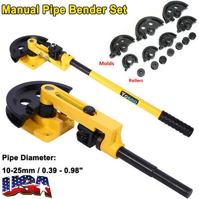 Manual Pipe Tube Bender Set 38 12 916 58 34 78 1 W Dies Tool Kit