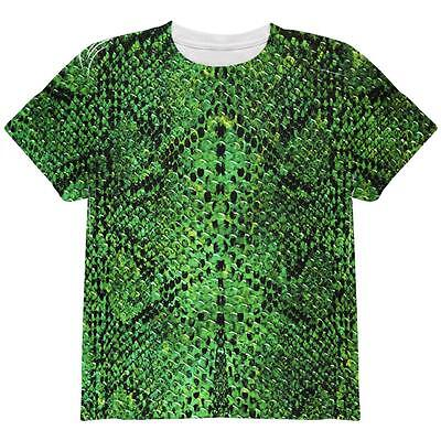 Halloween Green Snake Snakeskin Costume All Over Youth T Shirt](All Green Halloween Costume)
