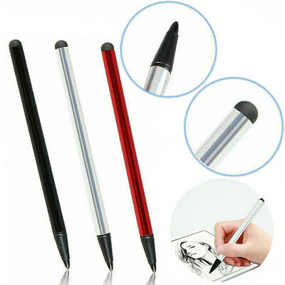 2 In 1 Touch Screen Pen Resistive Dual-Use Stylus For iPhone iPad Samsung Tablet