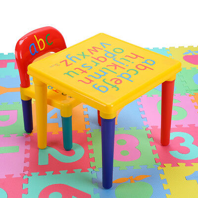 Children Table and Chairs Play Kit Toddler Child Activity Furniture In-Outdoor
