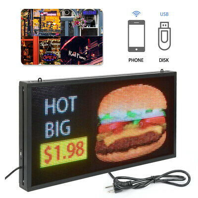Full Color P5 Led Sign Programmable Scrolling Message 27 X 14 Inch Display