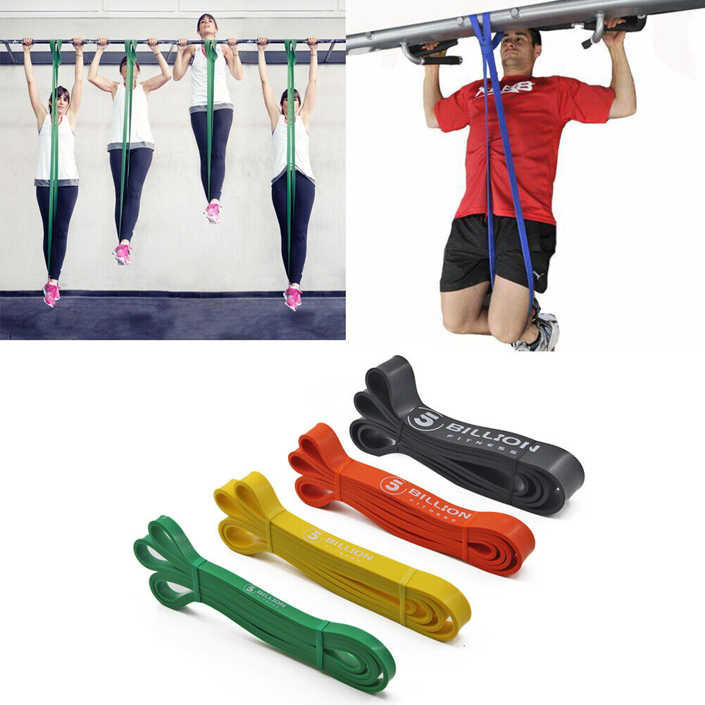 Strong Resistance Bands Latex Exercise Elastic Band Pull Up Assist Fitness Gym