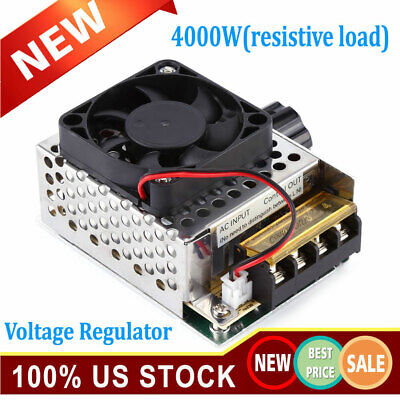 4000w Ac 110v To 220v Scr Motor Speed Controller Module Voltage Regulator Dimmer