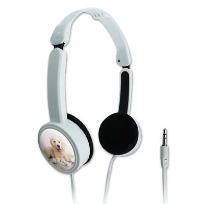 Golden Retriever Puppy Dog and Blanket Portable Foldable On-Ear Headphones