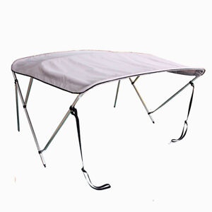 3 Bow Bimini Top Boat Tent Cover Gray 61