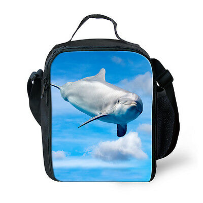 Insulated Lunch Cooler Cool Dolphin Thermal Lunch Tote Bag for Kids Boys - Cool Lunch Bags For Boys