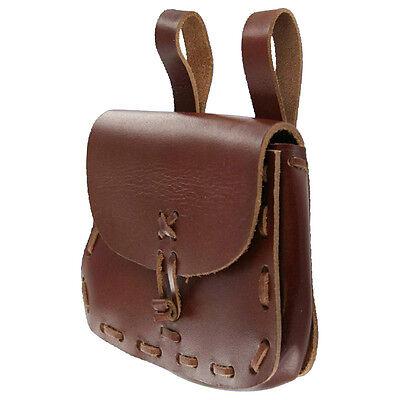 Medieval Leather Hide Festival Renaissance Pouch Bag