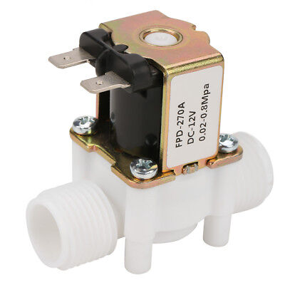 12v G12 Nc Plastic Electrical Inlet Solenoid Water Valve For Water Dispense C