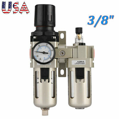 38 Air Compressor Filter Oil Water Separator Trap Tools With Regulator Gauge