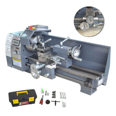 110v 8x16 750w Variable-speed Mini Metal Lathe Bench Top Digital Top Quality