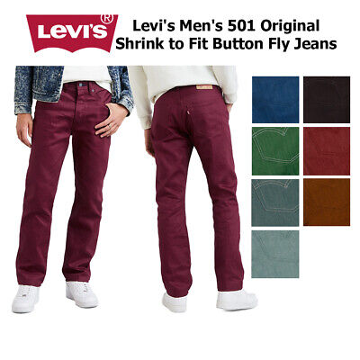 Levi's Men's 501 Original Shrink to Fit Button Fly Jeans Clothing, Shoes & Accessories