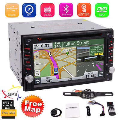 Car Stereo GPS Navigation Bluetooth Radio Double 2 Din 6.2