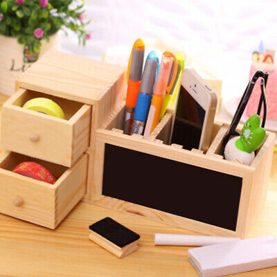 Wood Pen Holder Office Or Student Desk Accessories Pen Pencil Holder Organizer