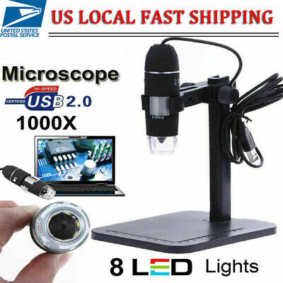 1000x 8led Digital Microscope Camera Handheld Usb Magnification Endoscope Usb
