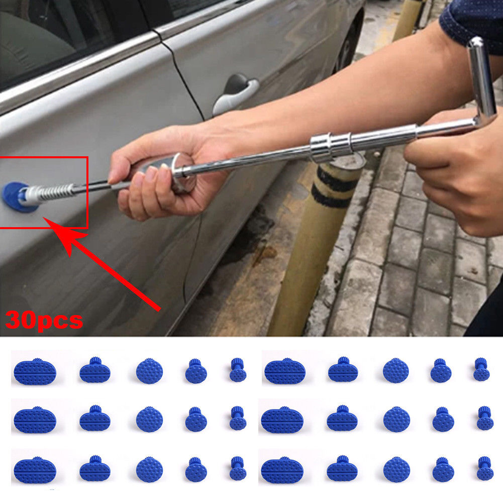 30pcs PDR Pulling Tabs Blue Dent Removal Puller Tabs Paintless Repair Tools Kit