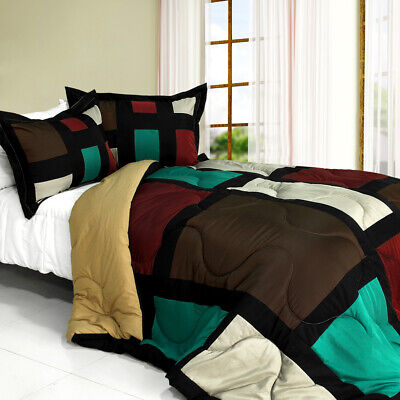sweet shadow quilted patchwork down alternative comforter