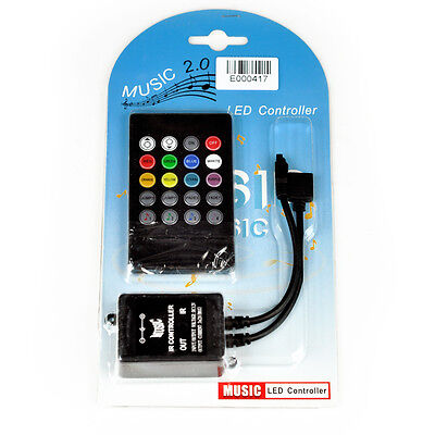 Music sound activated RGB LED controller for light strip 20 key remote control](Sound Activated Leds)