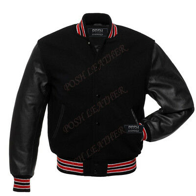 Letterman Baseball school college varsity jacket Melton Wool and Genuine Leather Melton Wool Letterman Jacket