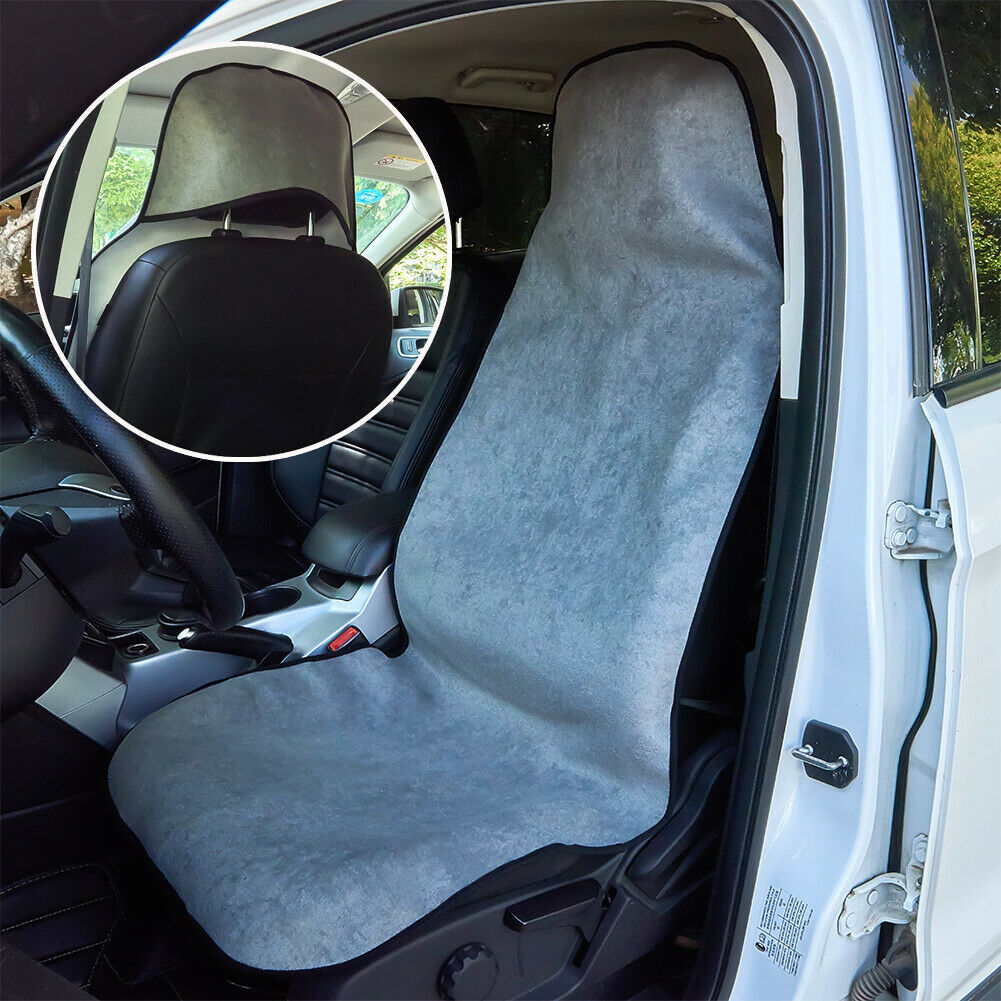 SLIP ON THROW OVER STYLE GENUINE BLUE XDC SPIDER CAR SEAT COVERS FRONT PAIR!