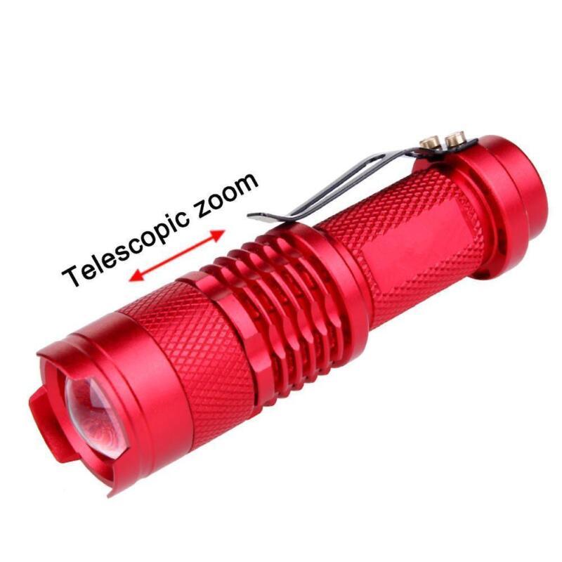 Waterproof Pocket LED Flashlight Zoomable LED Torch Mini Penlight Light MT