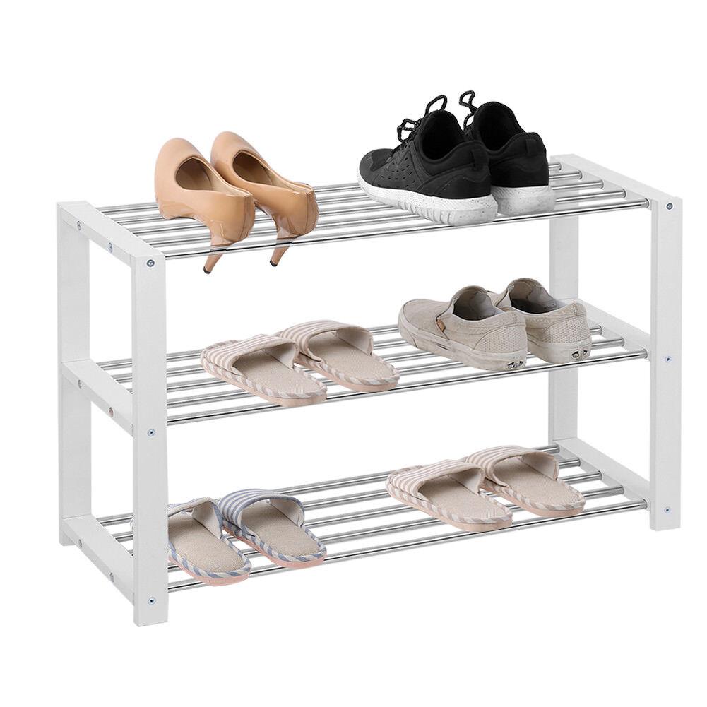 Schuhablage Schuhregal Schuhständer weiß mit 3 Böden